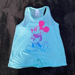 Disney Mickey Mouse Tie Front Tank